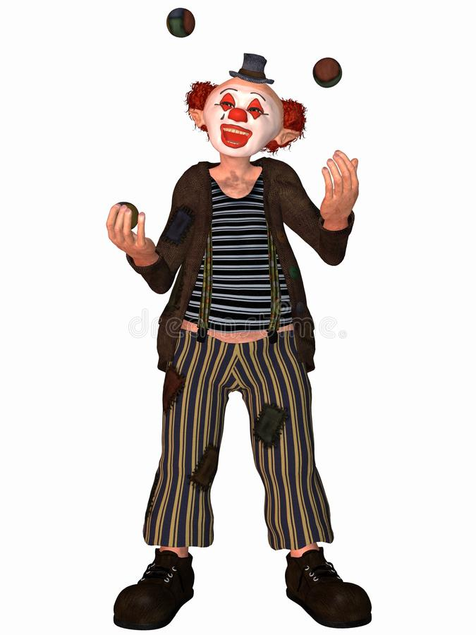 Toonimal Clown stock abbildung
