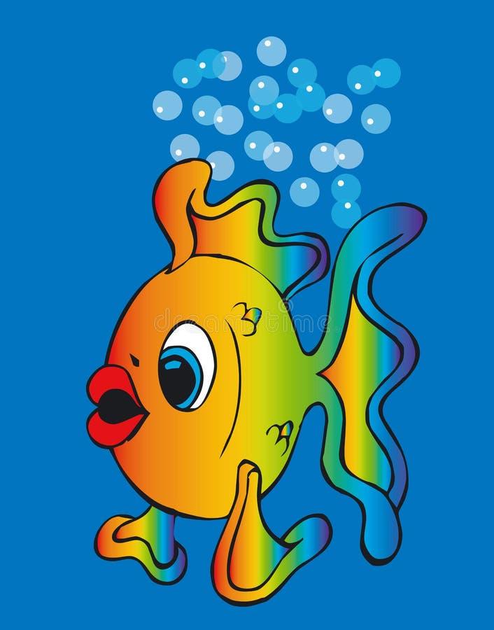 Toonimal Fisch-Vektor lizenzfreie abbildung
