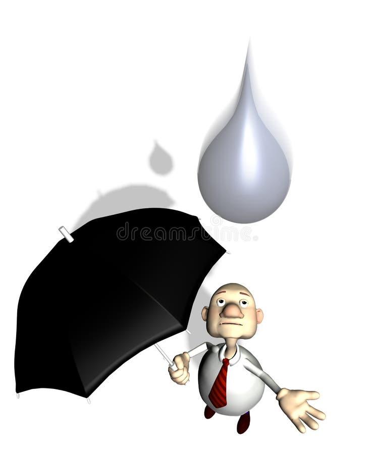 Download Toonman raindropfalling stock illustrationer. Illustration av droppande - 279382