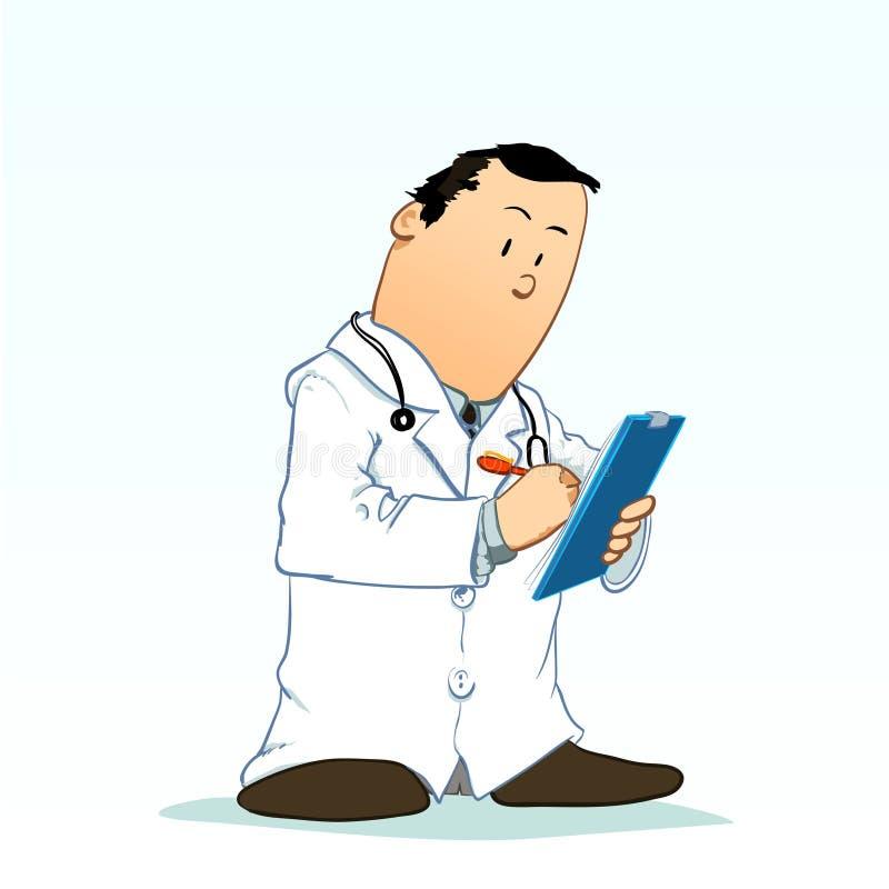Toons médicos - escrita do doutor fotografia de stock royalty free