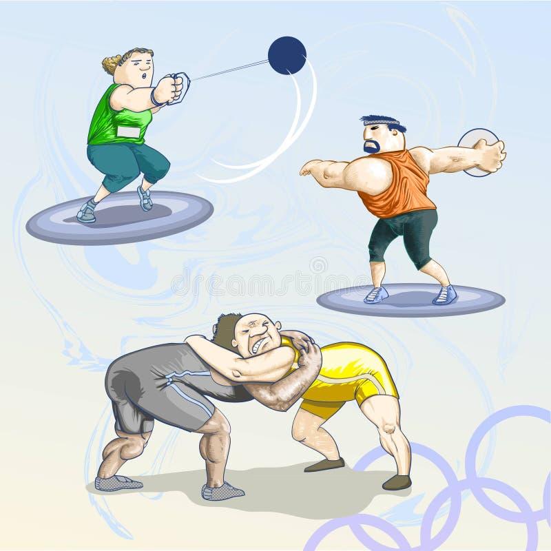 Toons olímpicos - bloco 2 ilustração do vetor