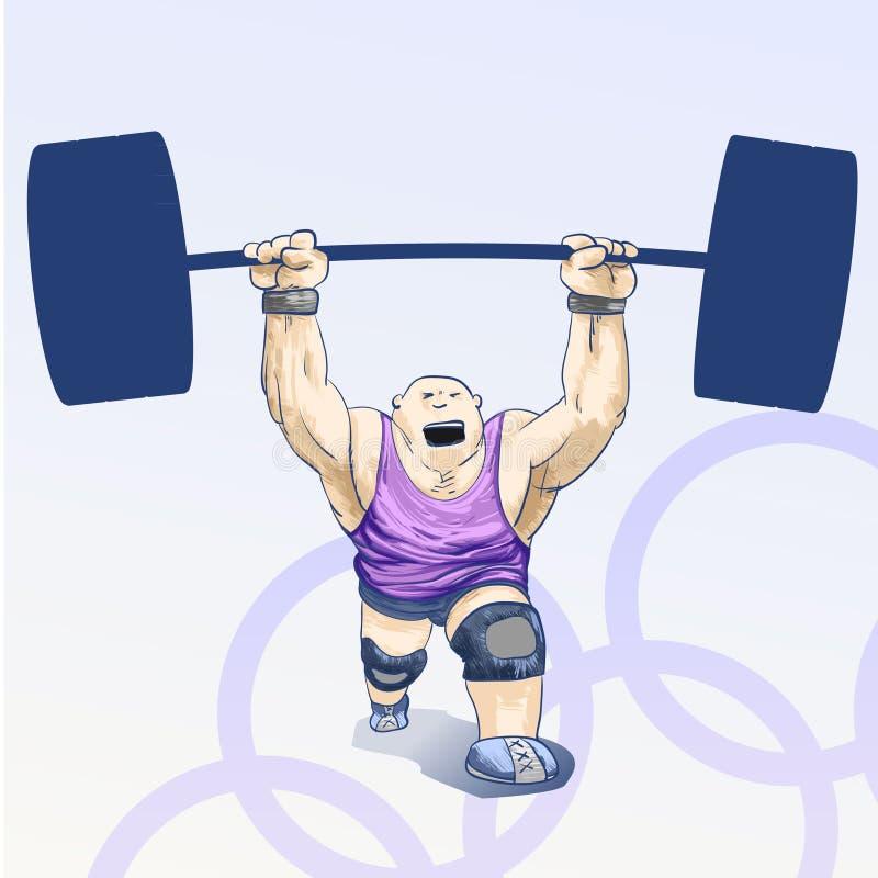 toons olimpijski weightlifting ilustracji