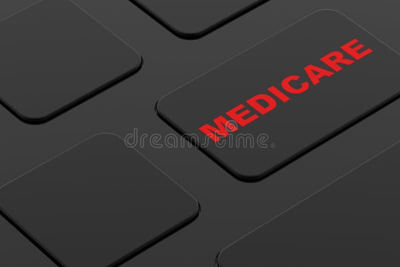 Toont de computer Zeer belangrijke raad Gezondheidszorg voor bejaarden vector illustratie