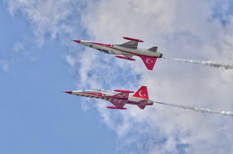Toont de Internationale Lucht van Boekarest BIAS 2018 royalty-vrije stock afbeeldingen