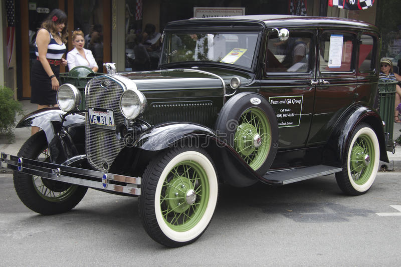 1931 toont Ford Model A op auto royalty-vrije stock fotografie