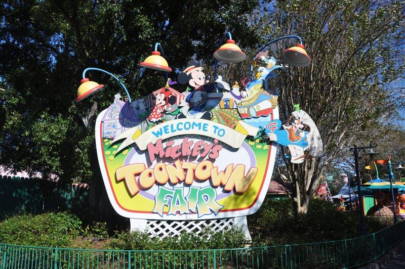 Toontown de Mickey juste en monde Orlando de Disney photos stock