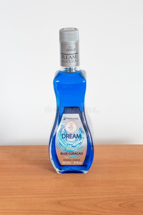 Toorank梦想蓝色库拉索岛利口酒 库存照片