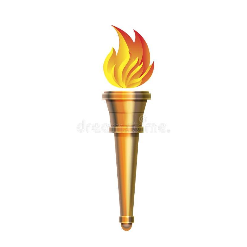 Toortspictogram - Vector Hete vlam, macht die vlammen, stock illustratie