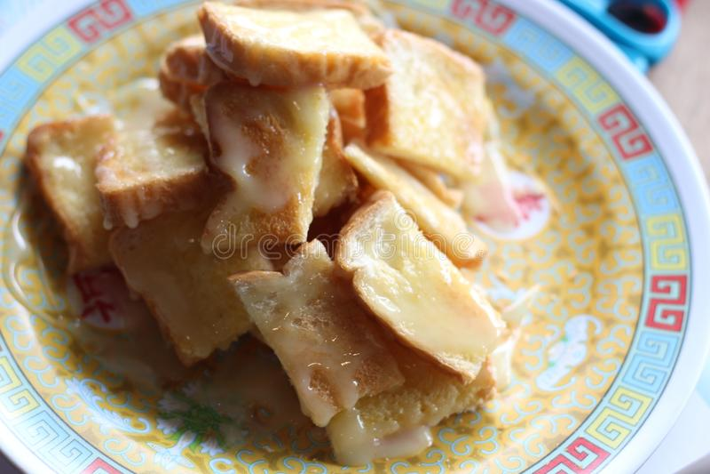 Toost in heerlijk de schatsnoepje van Thailad zo stock foto's