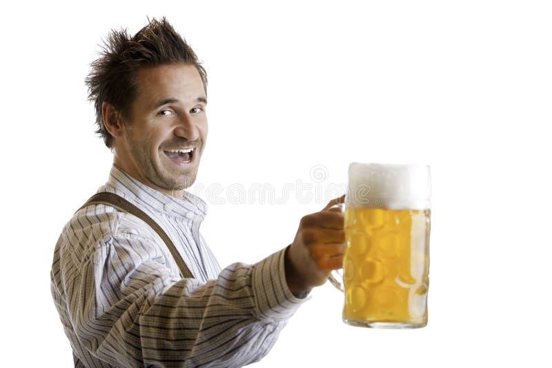 Toost met de Stenen bierkroes van het Bier Oktoberfest (Massa) royalty-vrije stock foto's