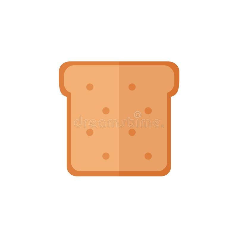 Toostbrood geïsoleerde pictogrammen op witte achtergrond royalty-vrije illustratie