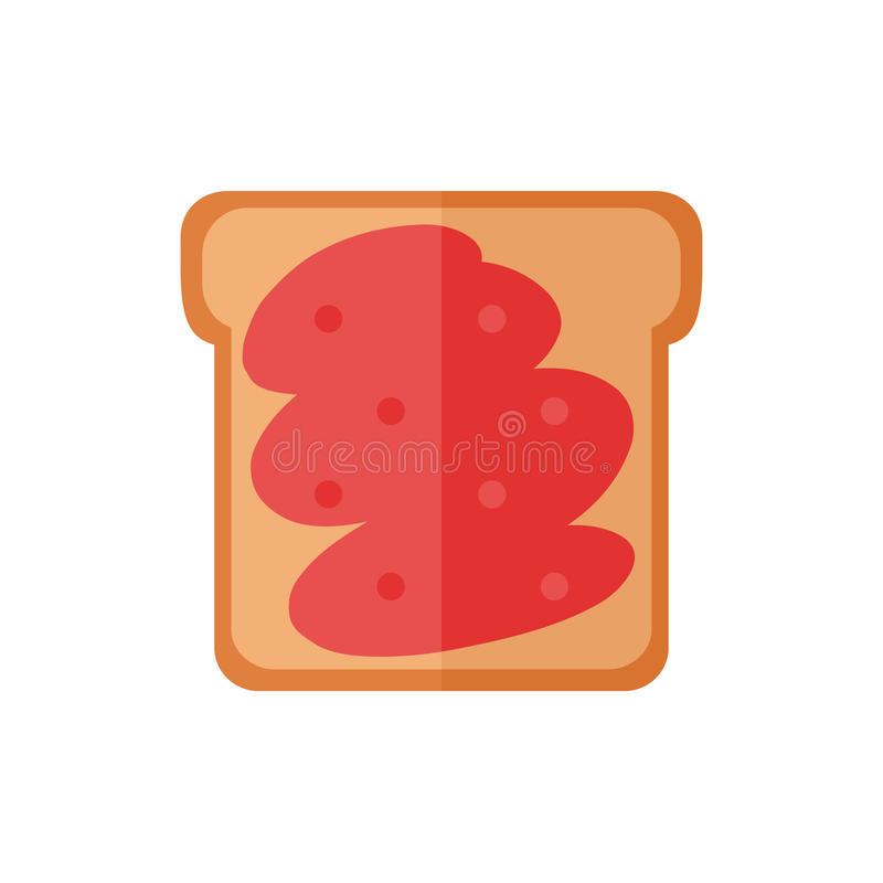 Toostbrood geïsoleerde pictogrammen op witte achtergrond royalty-vrije stock foto's