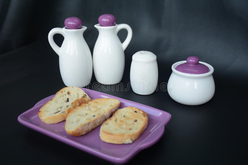 Toostbrood voor ontbijt royalty-vrije stock foto's