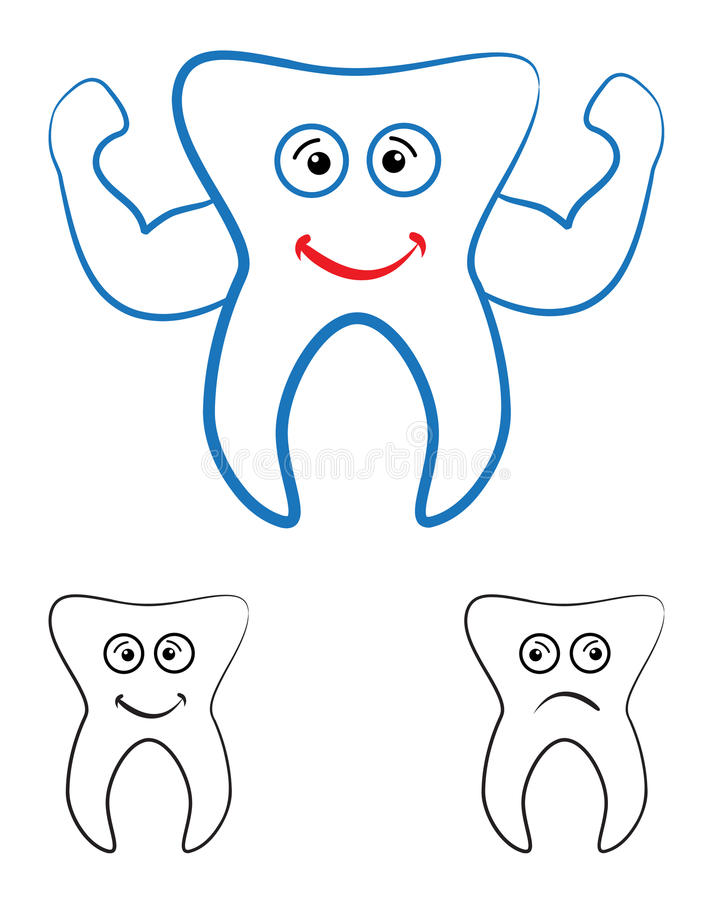 Download Tooth stock vector. Illustration of care, cleaning, cute - 23363588