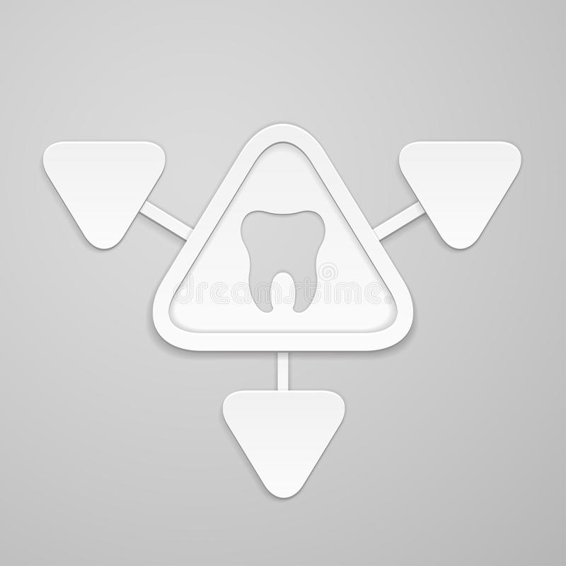 Tooth In And Around Triangle Stock Illustration