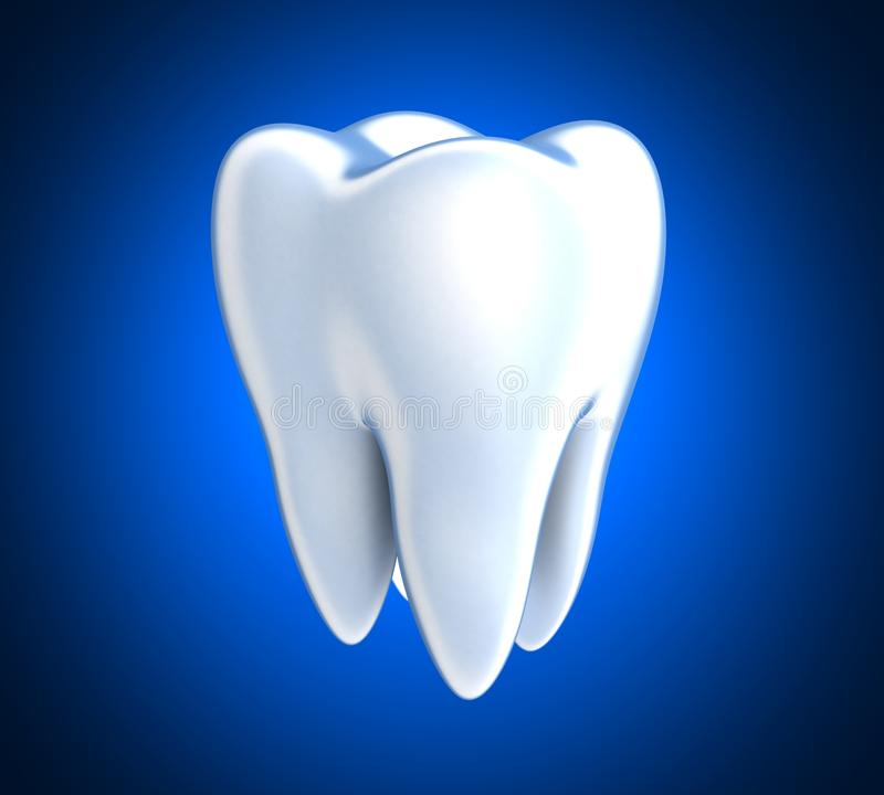 Tooth on blue background royalty free illustration