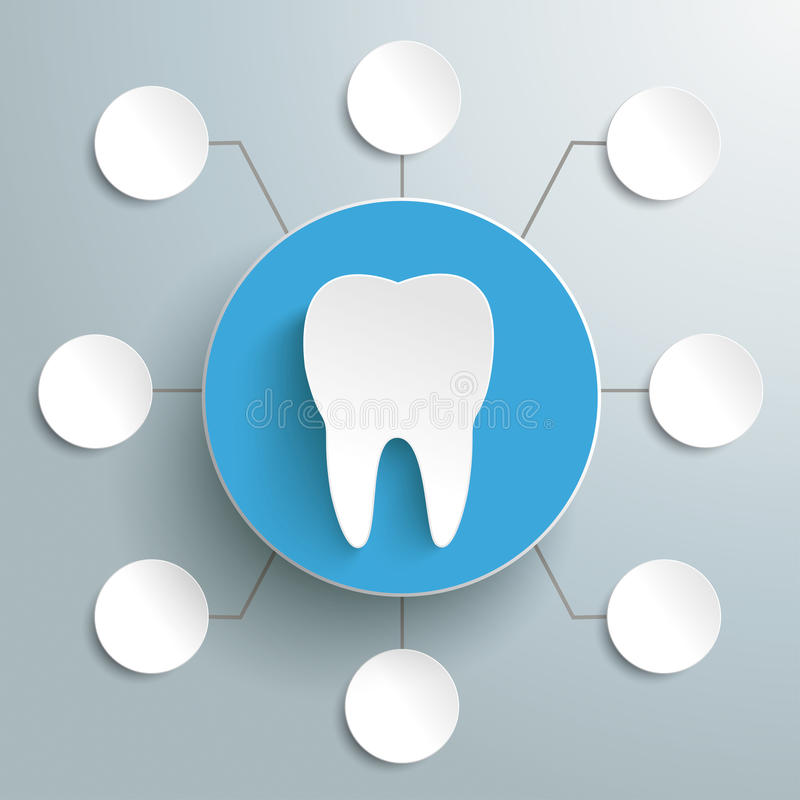 Download Tooth Blue Circle 8 Options PiAd Stock Images - Image: 33661154