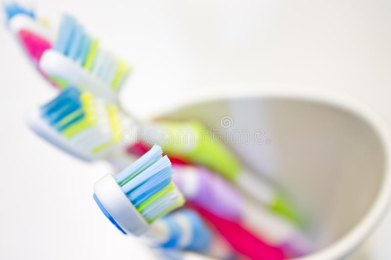 Tooth brush. Group tooth brush closeup white background shot stock images