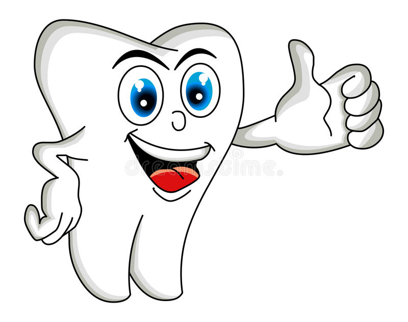 Tooth Cartoon. Cartoon tooth seemed to be the thumbs-up. Fully scalable and editable, easy color change. Included file formats: EPS10. easy to edit layers and vector illustration