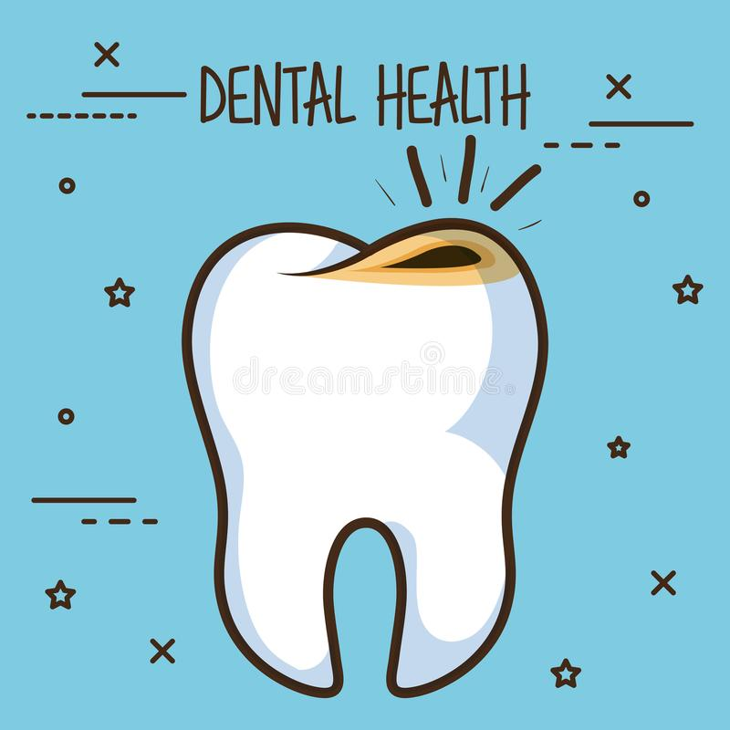 Tooth with cavities dental care icon. Vector illustration design vector illustration