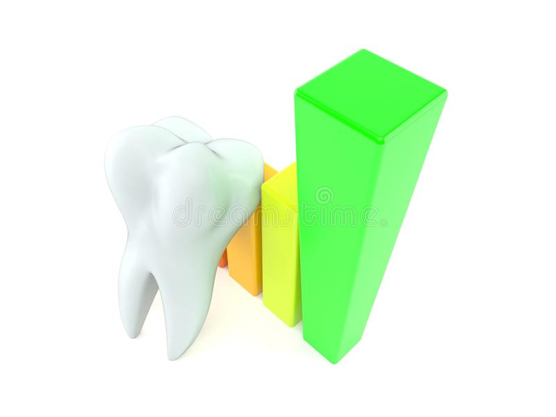 Tooth with chart royalty free illustration