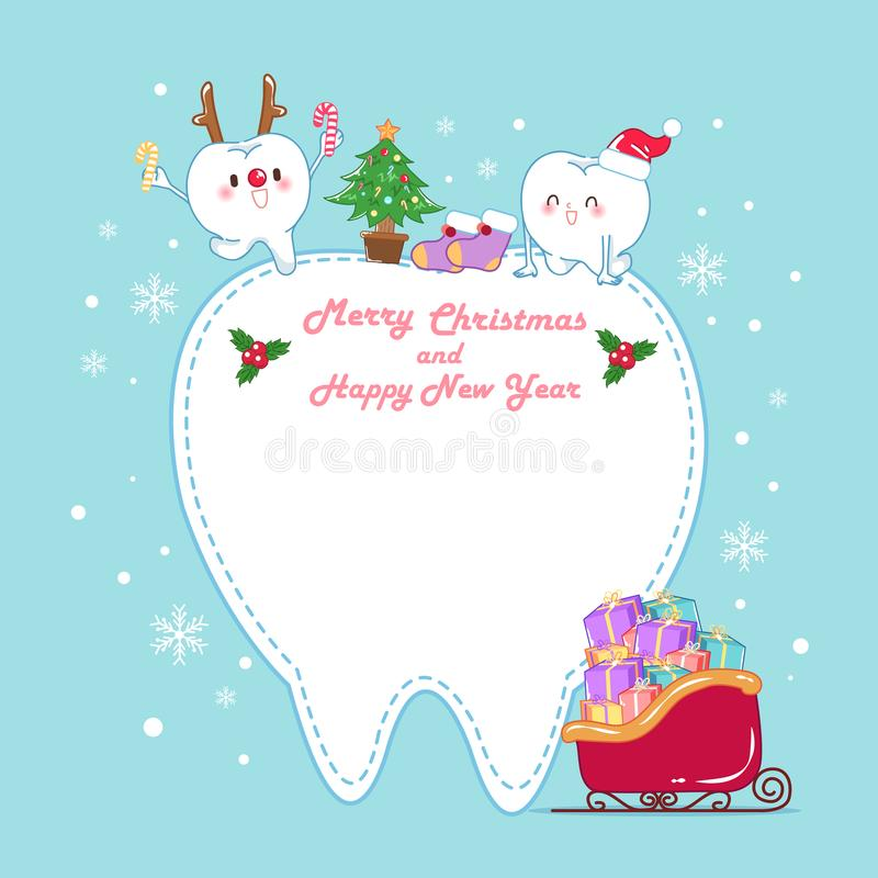 Tooth with christmas stock illustration