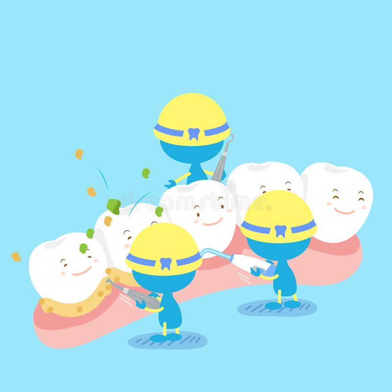 Tooth with clean concept royalty free illustration