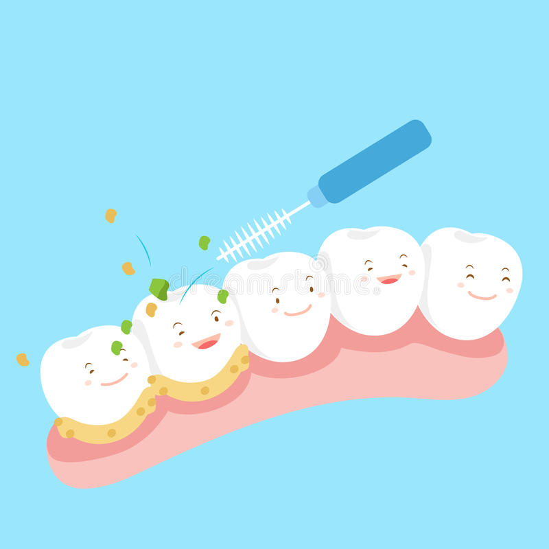 Tooth with clean royalty free illustration