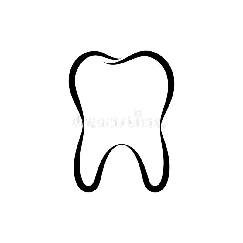Human tooth graphic logo. Dental symbol vector illustration