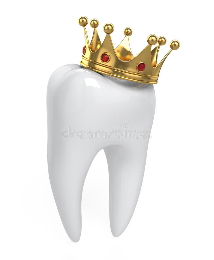 Download Tooth and crown stock illustration. Image of hygiene - 23425105