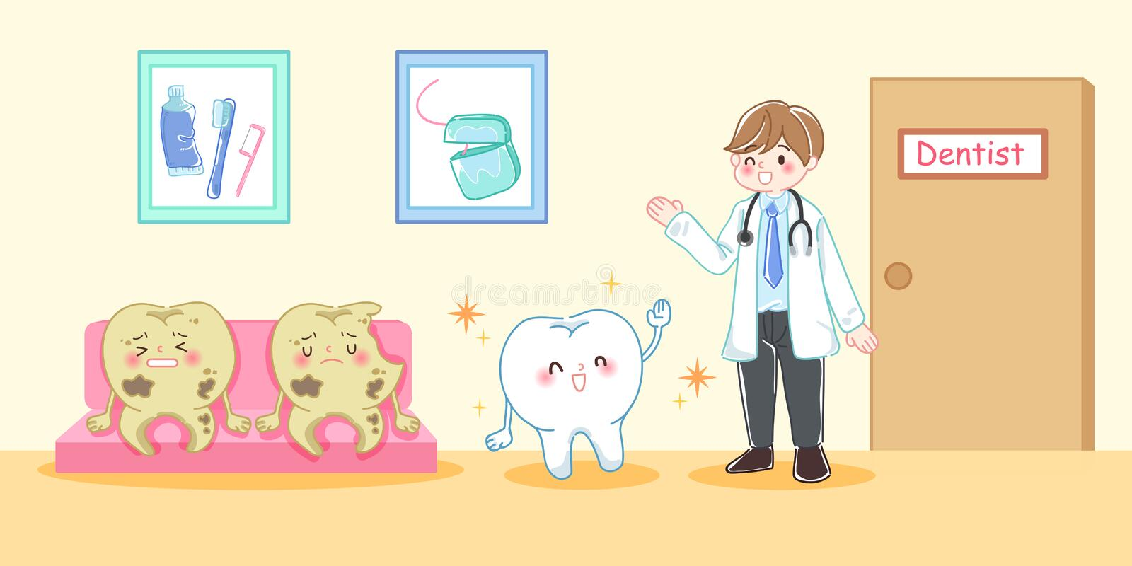 Tooth decay problem royalty free illustration