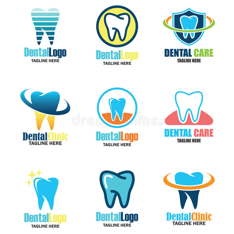 Tooth for dentistry / stomatologist / dental clinic logo royalty free illustration