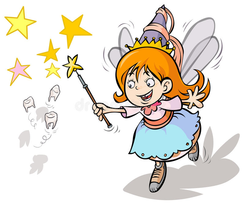 Tooth fairy. Cartoon cute Tooth fairy character vector illustration