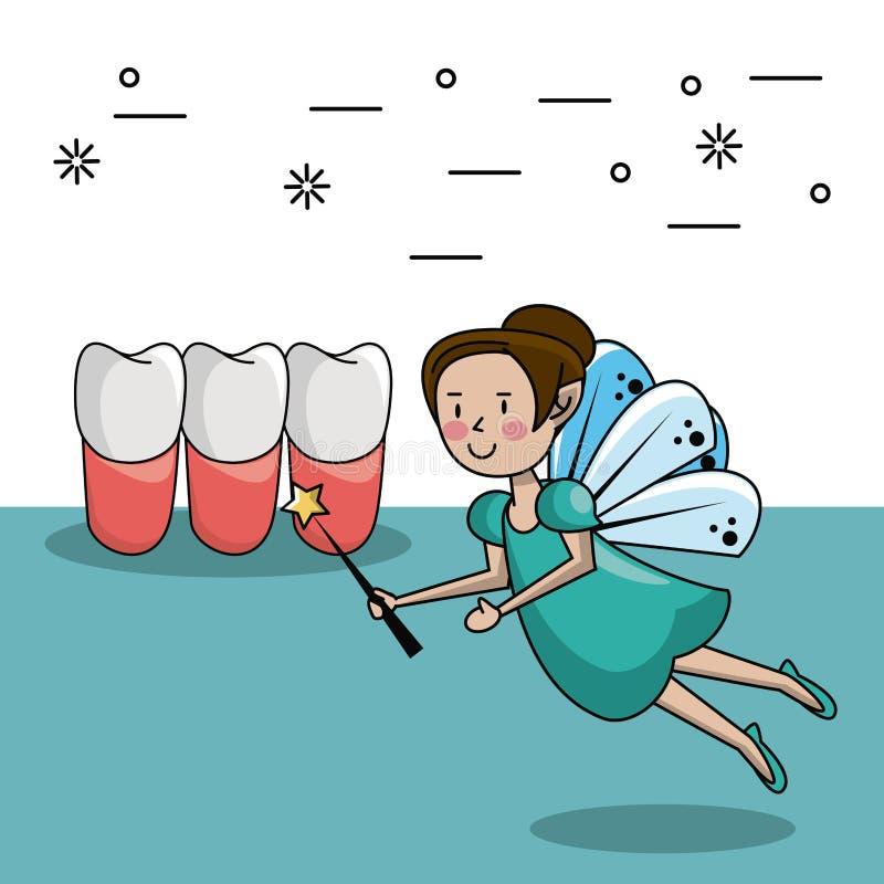 Tooth fairy cartoon stock illustration