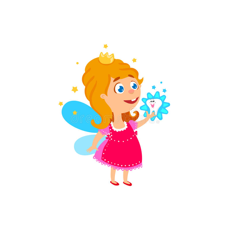 Tooth fairy character concept royalty free illustration