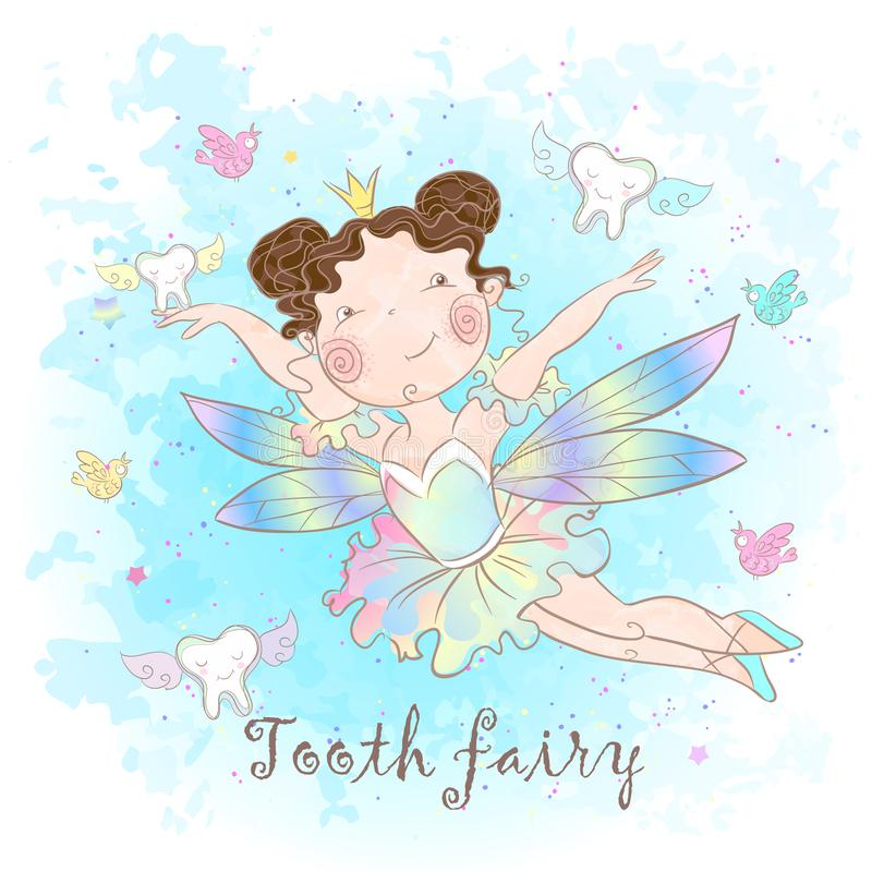 Tooth fairy is a fabulous creature. Nice style. Teeth. Dentistry. Vector vector illustration