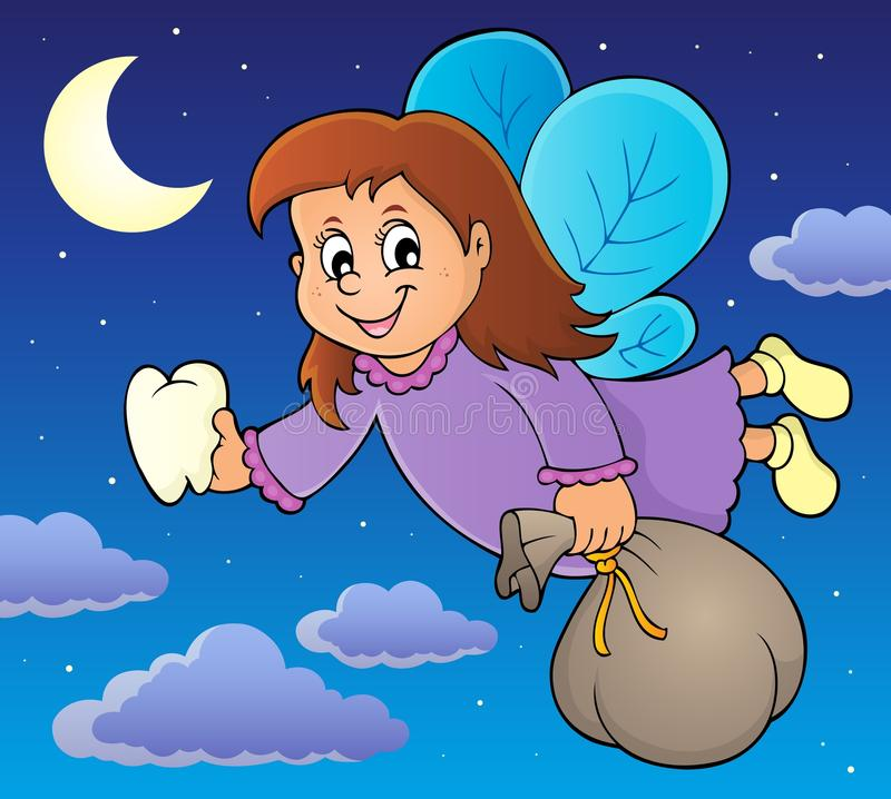Tooth fairy theme image 2. Eps10 vector illustration stock illustration