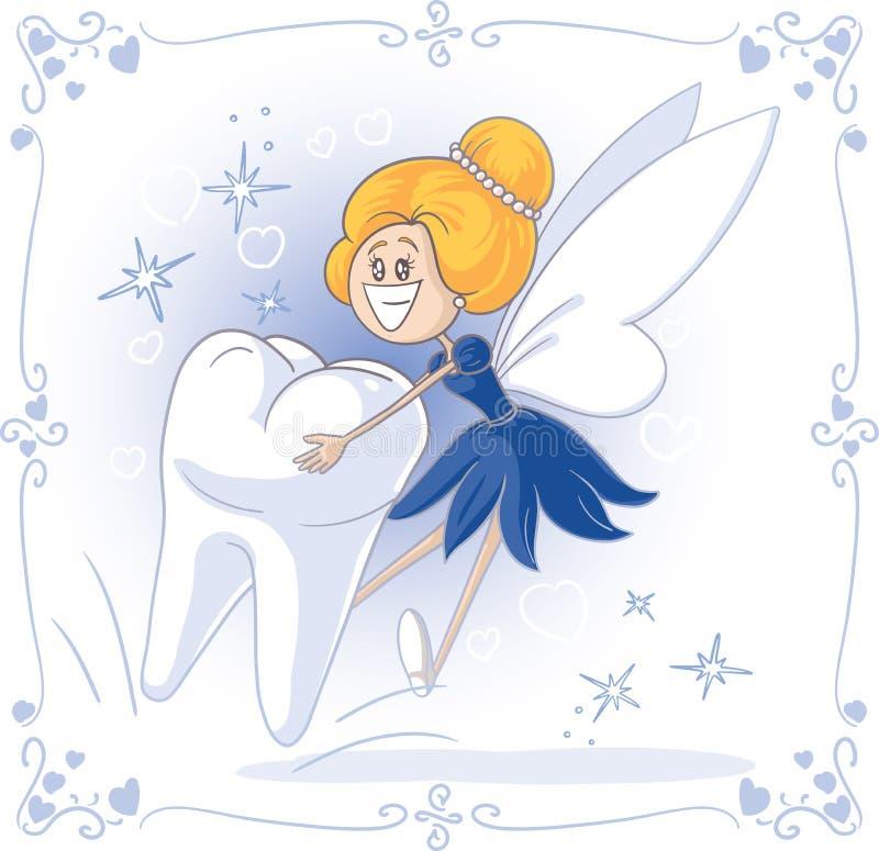 Tooth Fairy Vector Cartoon stock illustration