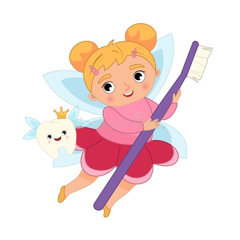 Free Tooth Fairy Vector Cartoon Illustration. Royalty Free Stock Photos - 217281008