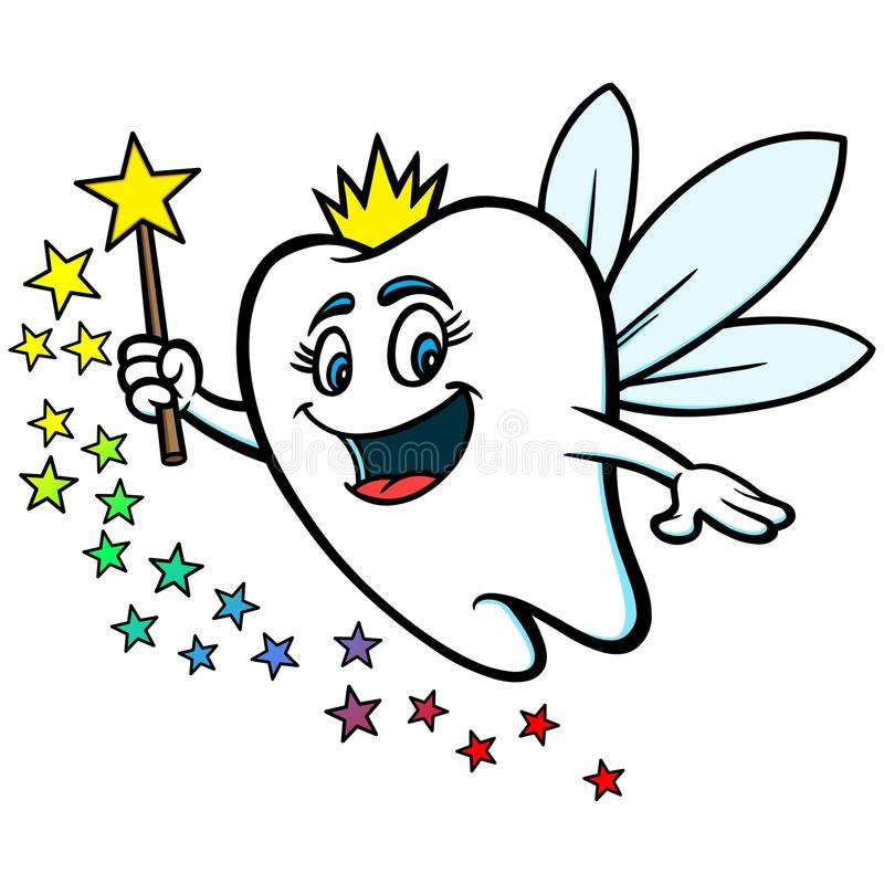 Tooth Fairy. A vector illustration of a Tooth Fairy royalty free illustration