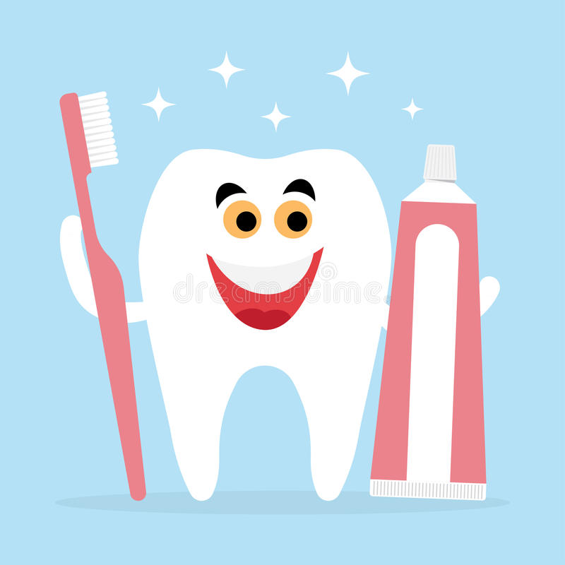 Tooth And Friends Toothbrush, Toothpaste Stock Vector ...