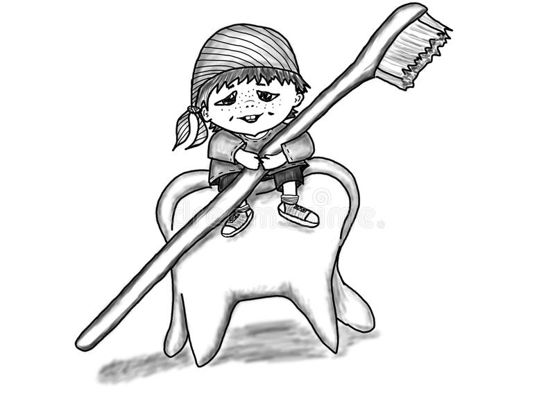 Tooth gnome royalty free stock photos