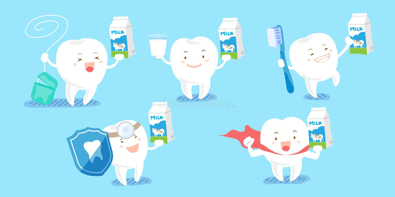 Tooth with health concept vector illustration