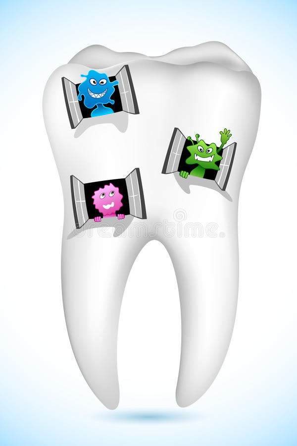 Tooth Home stock illustration
