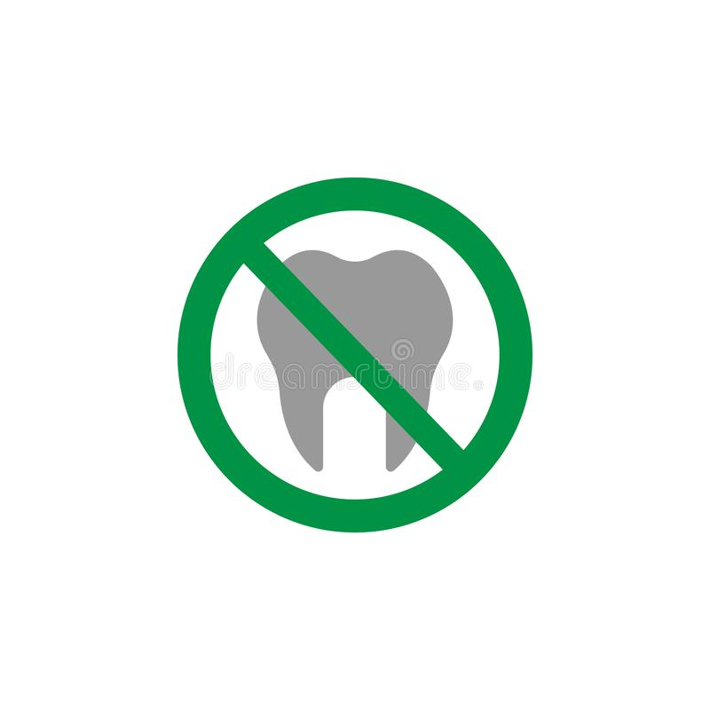 Tooth icon. Element of Dental Care icon for mobile concept and web apps. Detailed Tooth icon can be used for web and mobile. On white background vector illustration