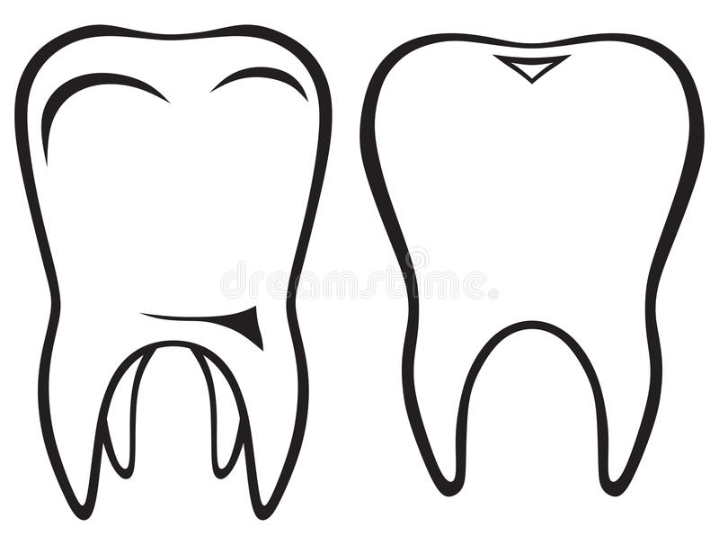 Tooth icon stock illustration