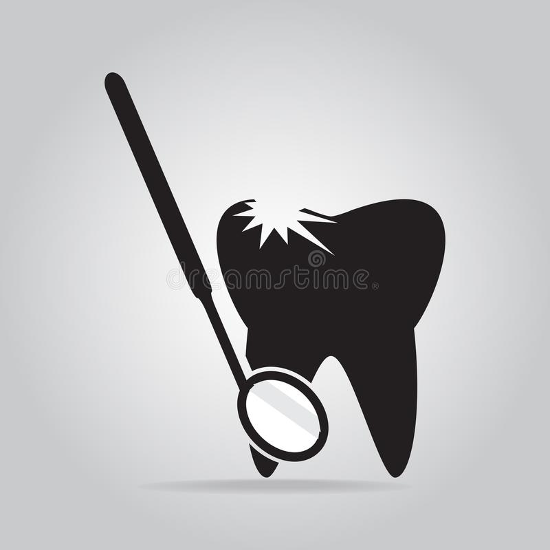 Tooth icon, protection tooth hygiene concept, dentist icon. Vector illustration royalty free illustration