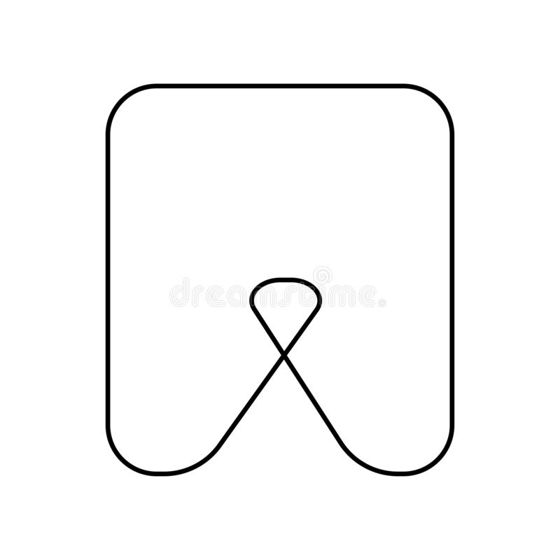 Tooth icon. Thin lines. Oral care system. Eps ten stock illustration