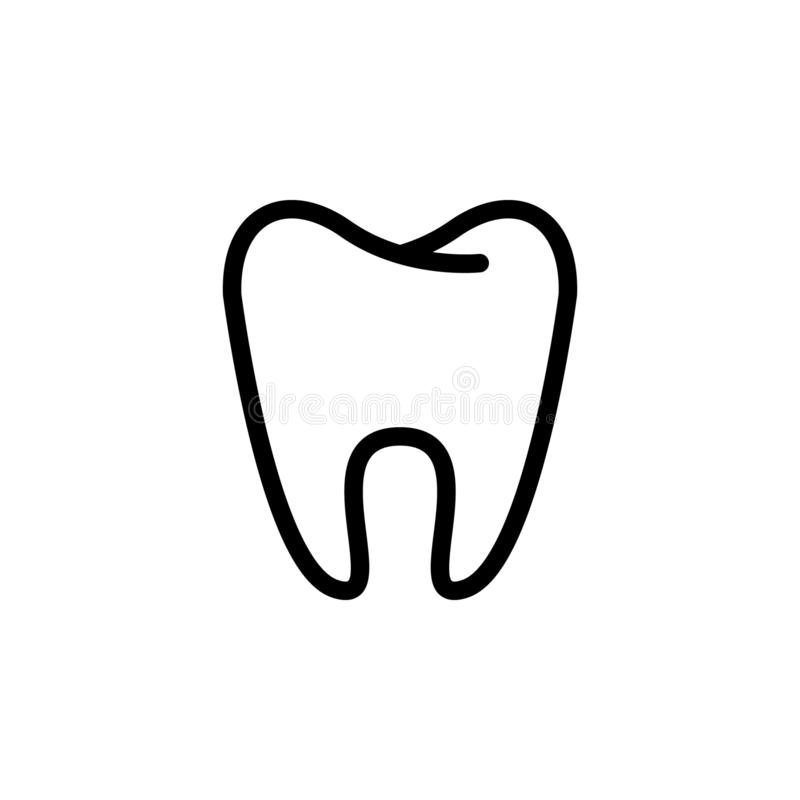 Tooth icon, tooth silhouette, dental symbol. simple flat vector illustration royalty free illustration