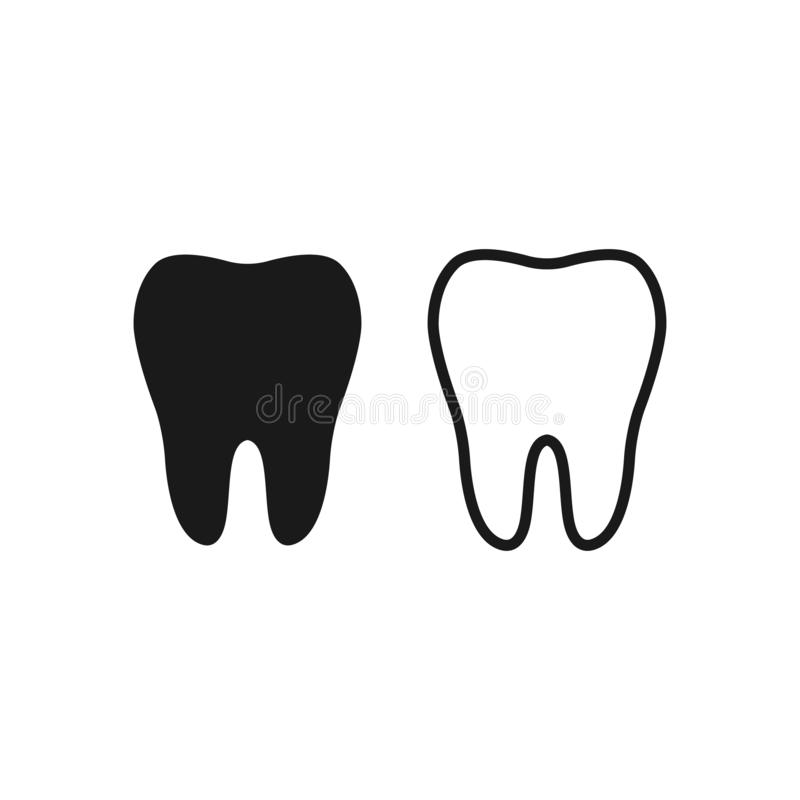 Tooth Icon vector symbol health concept sign. EPS10 royalty free illustration
